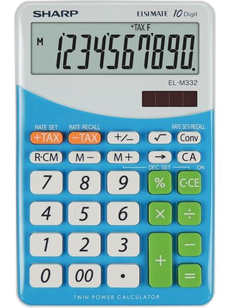 Kalkulačka SHARP EL332B BL stolní / 10 míst modrá