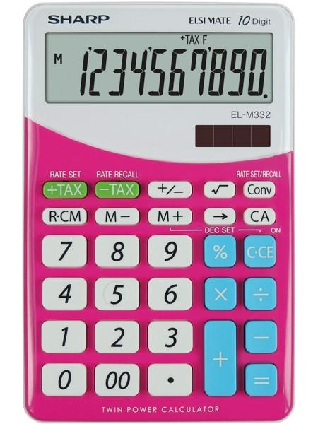 Kalkulačka SHARP EL332B PK stolní / 10 míst růžová
