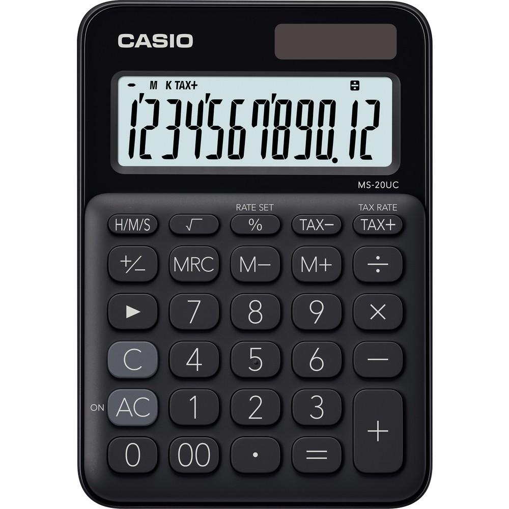 Kalkulačka Casio MS 20 UC/BK stolní / 12 míst černá