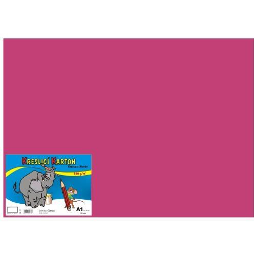 Karton kreslicí barevný A1 180g / 10l růžový