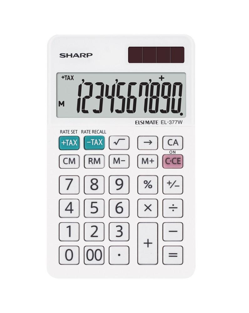 Kalkulačka SHARP EL-377W stolní / 10 míst