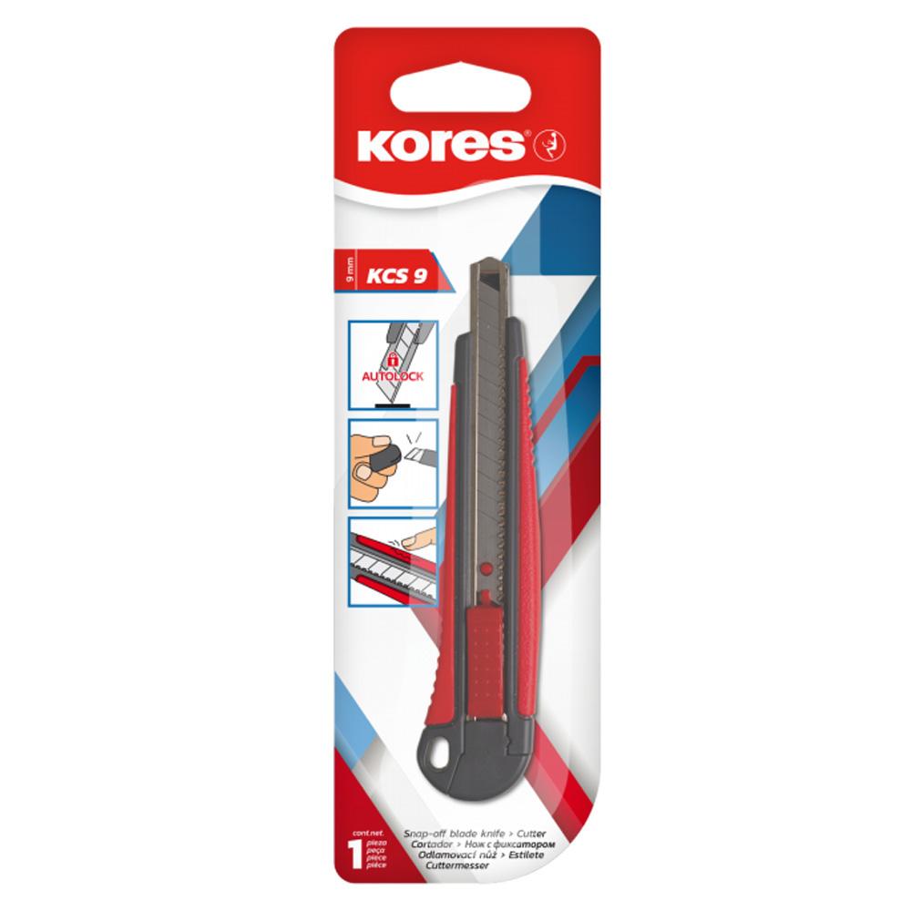 Nůž zalamovací s kovovou lištou malý (9mm) Kores