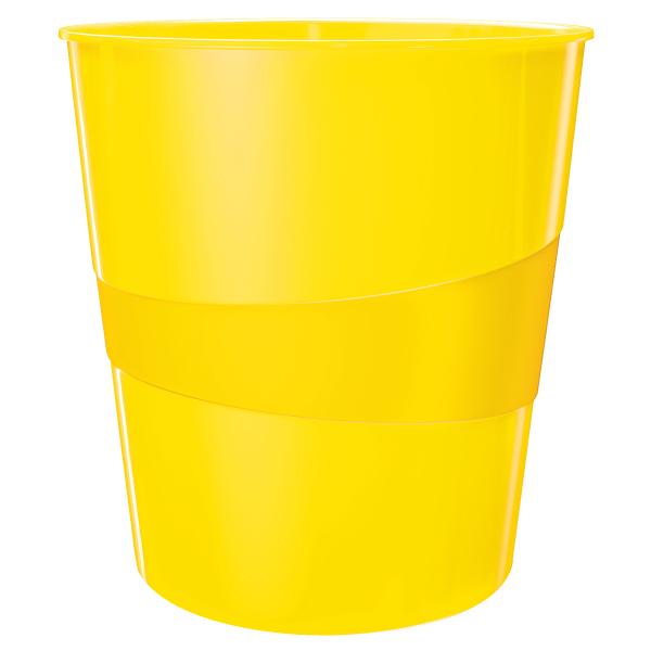 Koš odpadkový Leitz WOW žlutý