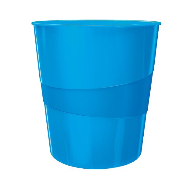 Koš odpadkový Leitz WOW modrý