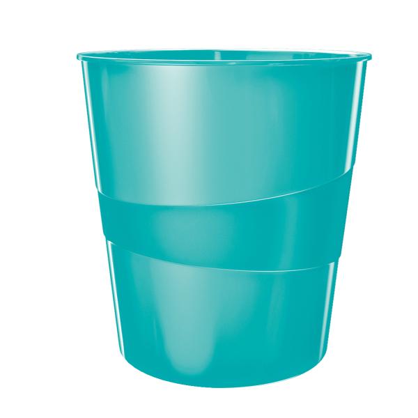 Koš odpadkový Leitz WOW ledově modrý