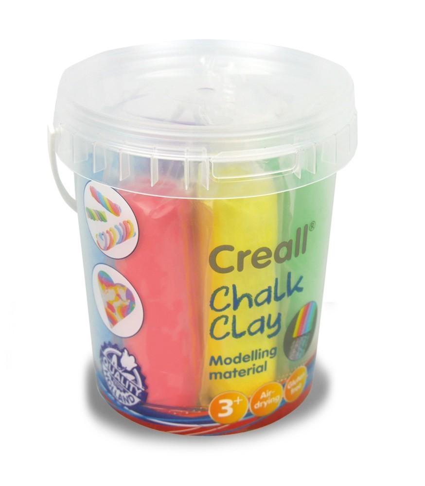 Modelína křídová samotvrdnoucí CREALL 6 barev ve kbelíku